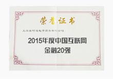 2015年度中国互联网金融20强